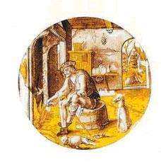 Zone de Texte:  Vitrail peint vers 1520  Londres - Victoria and Albert Museum